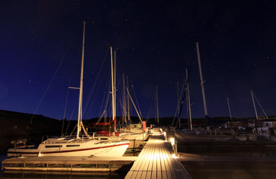 Rock Canyon Marina Dock at night